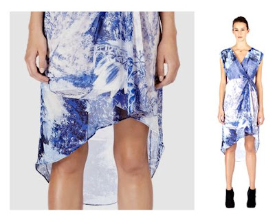 Warehouse Landscape Print Dress