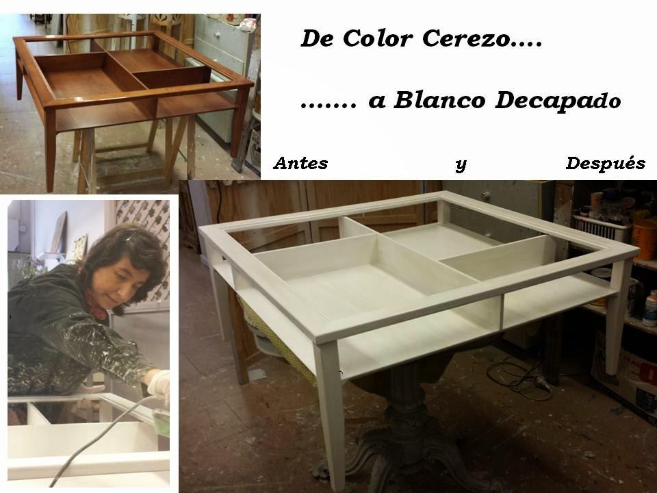Candini muebles pintados nuevos y redecorados la - Muebles decapados en blanco ...