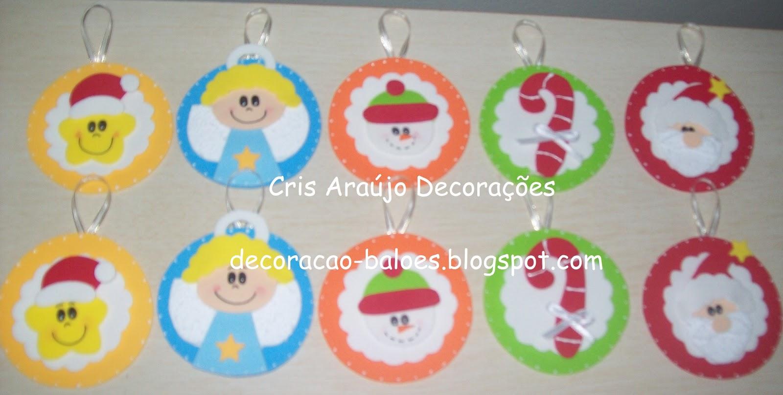 Arte com balões e EVA EVA Natal -> Decoração Em Eva Natal