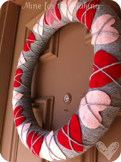 argyle heart wreath for tweens to make