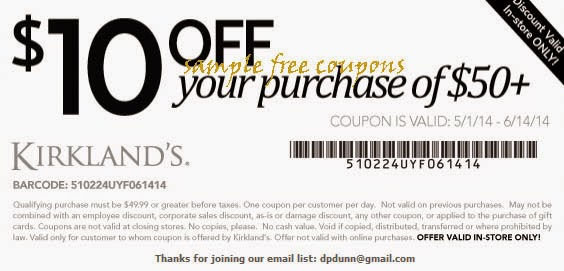 You Can See It Here Kirklands Printable Coupons You Must Sign Up