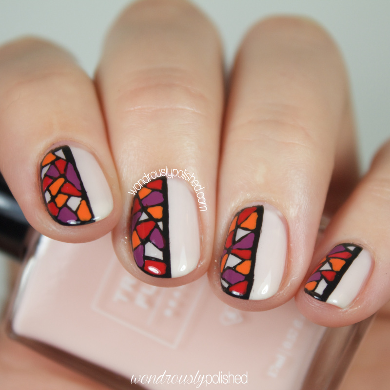 Stained Glass Nail Art: Wondrously Polished: Guest Post For The Dalai Lama's Nails