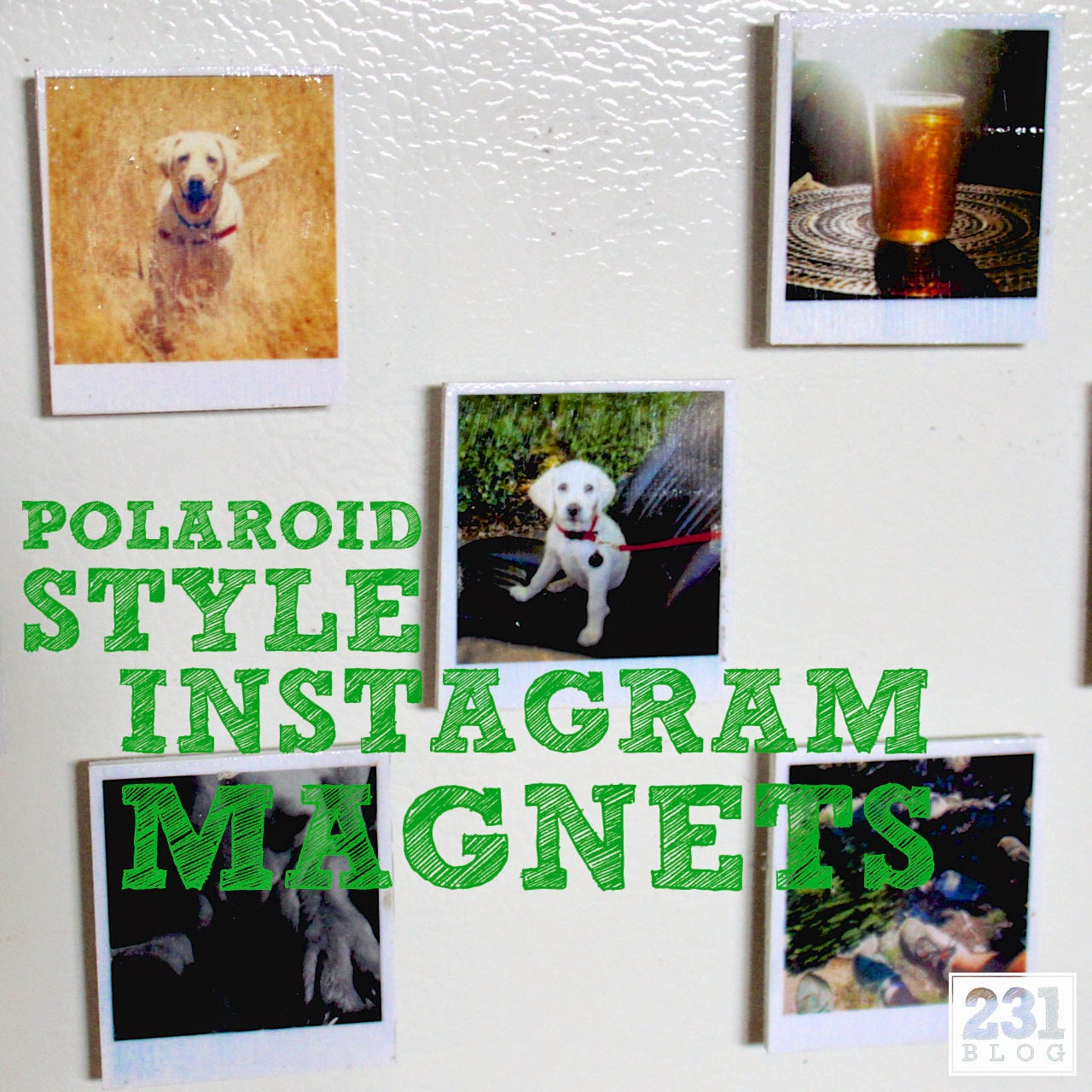 polaroid style instagram magnets