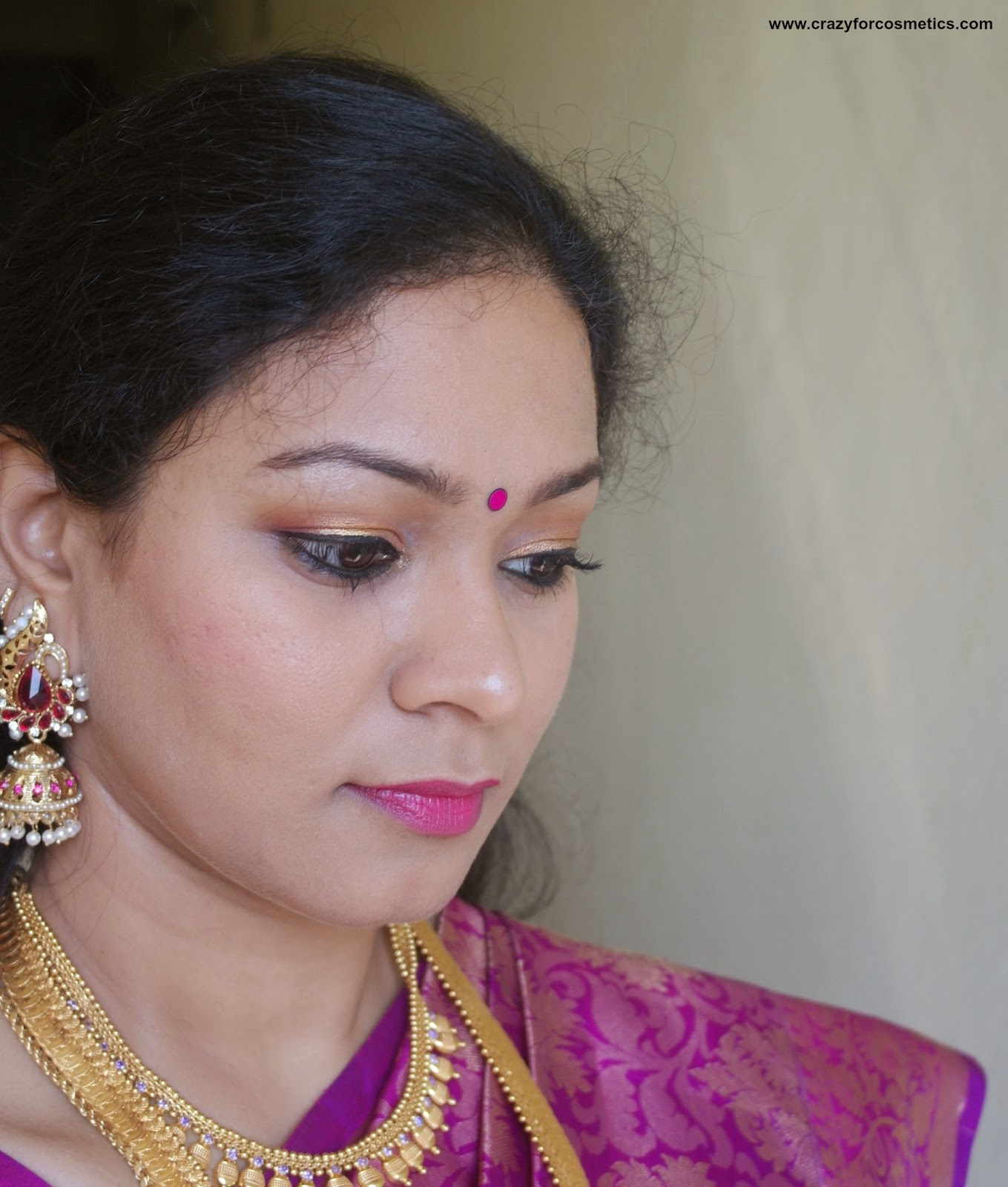 south indian summer wedding makeup ideas