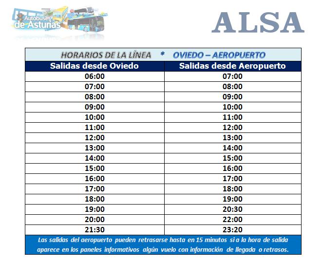 Autobuses de asturias horarios y servicios al aeropuerto for Horario correos puerto real