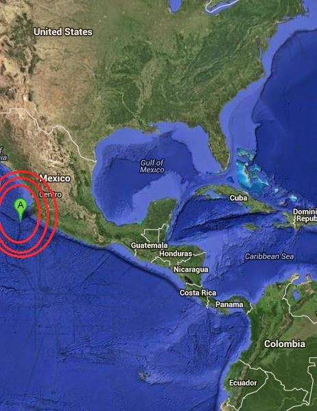 Magnitude 4.8 Earthquake of Tomatlan, Mexico 2014-09-08