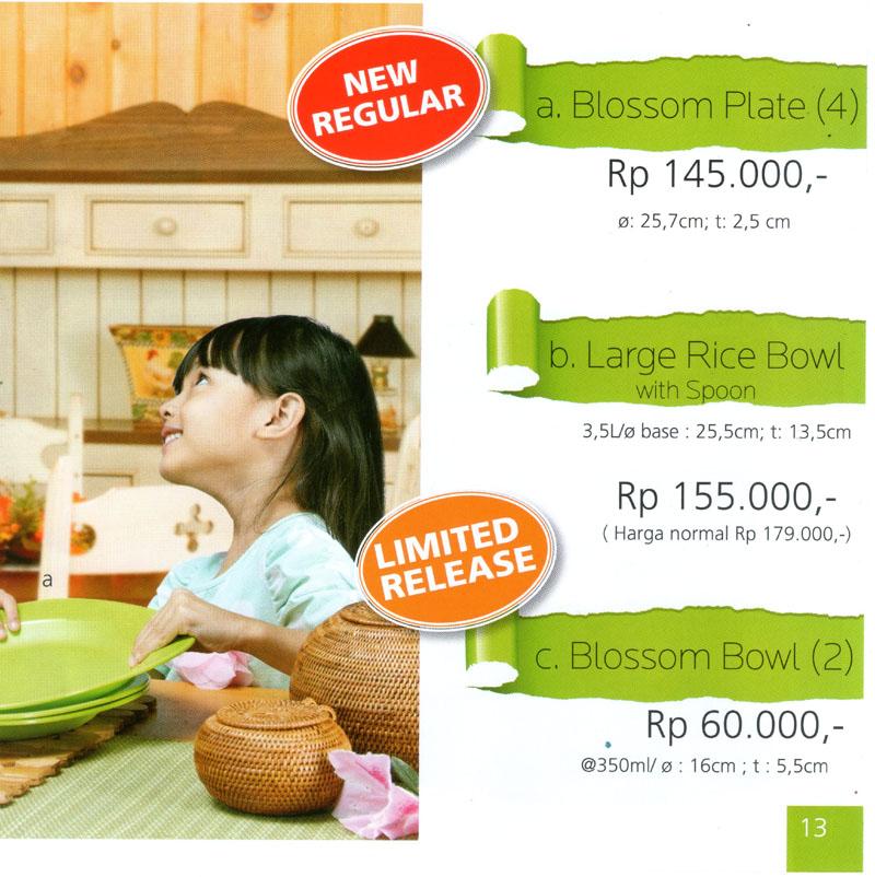 Katalog Tupperware Promo Juni 2013-Blossom Plate-Large Rice Bowl-Blossom Bowls, tupperwareraya