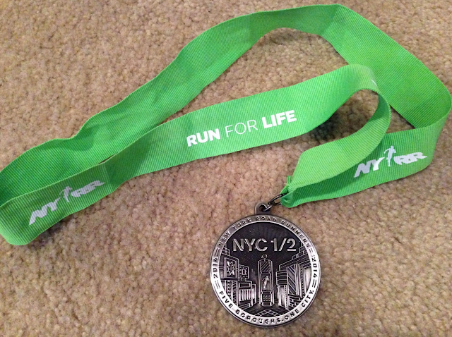 NYC half medal 2014