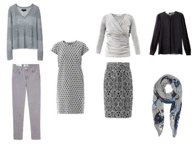 grey six pack for a dressy long weekend