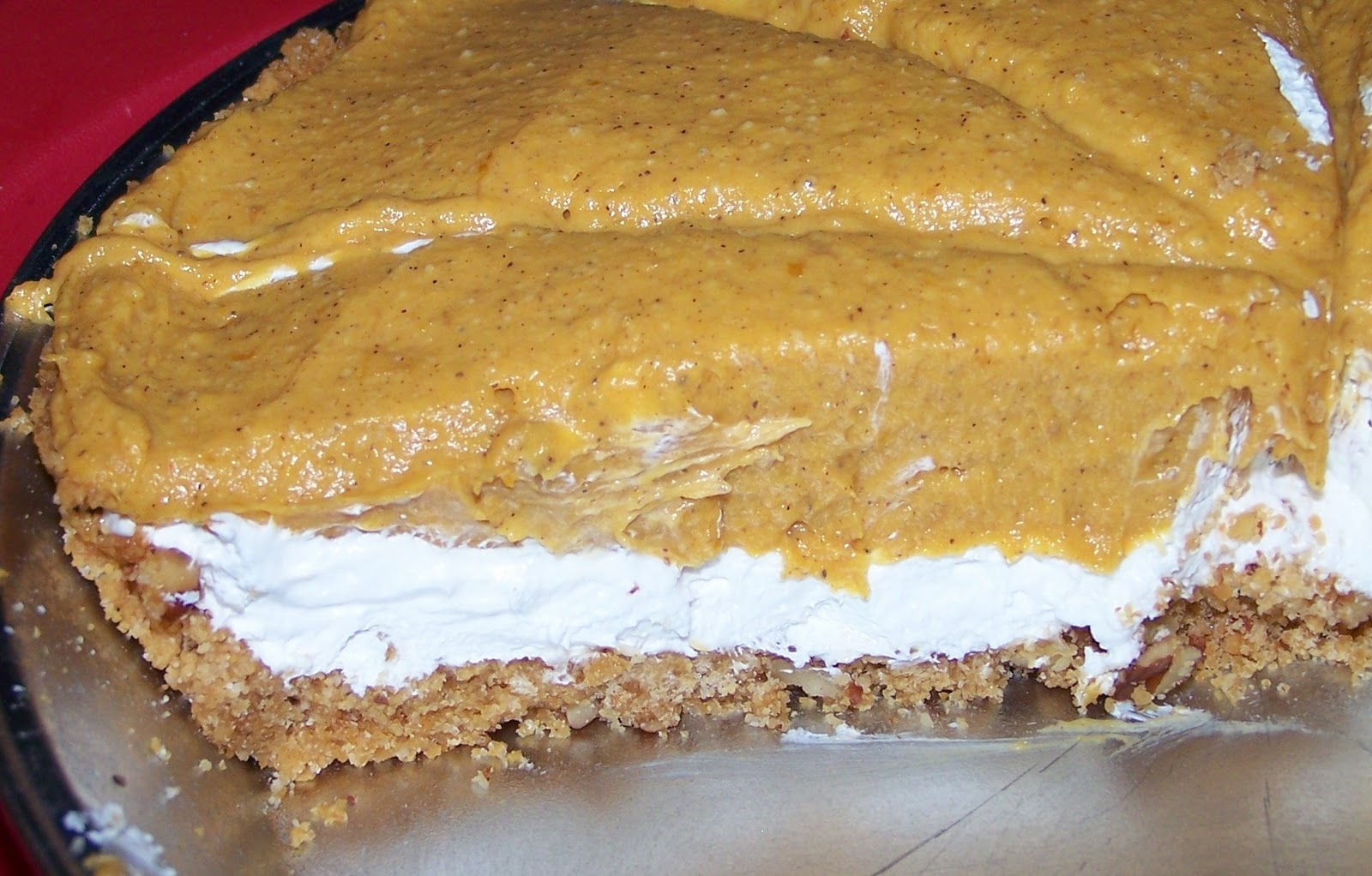 Baking Ribbons: Pumpkin Mousse Double-Layer No Bake Pie!
