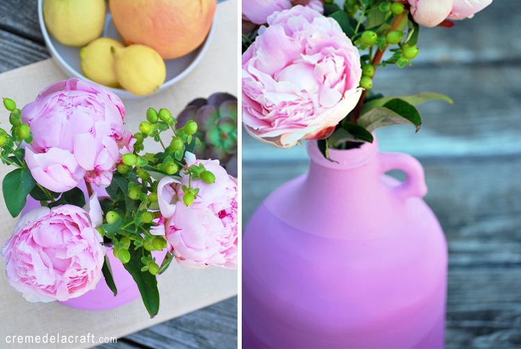 Diy Ombr Vase From A Juice Jug