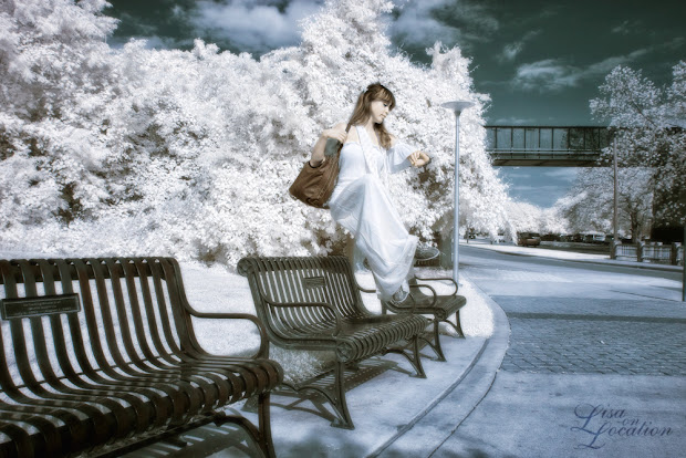 infrared, Canon 50D, levitation, waiting for the bus, bus stop, Lisa On Location Photography, New Braunfels, San Antonio, San Marcos, Austin