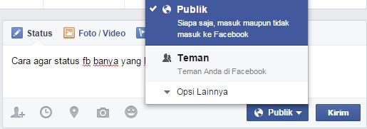 Trik mendapatkan banyak like dari status facebook