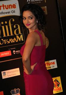 Actress Shanvi Pictures in Pink Long Dress at IIFA Utsavam Awards 2016 Day 2 (22)