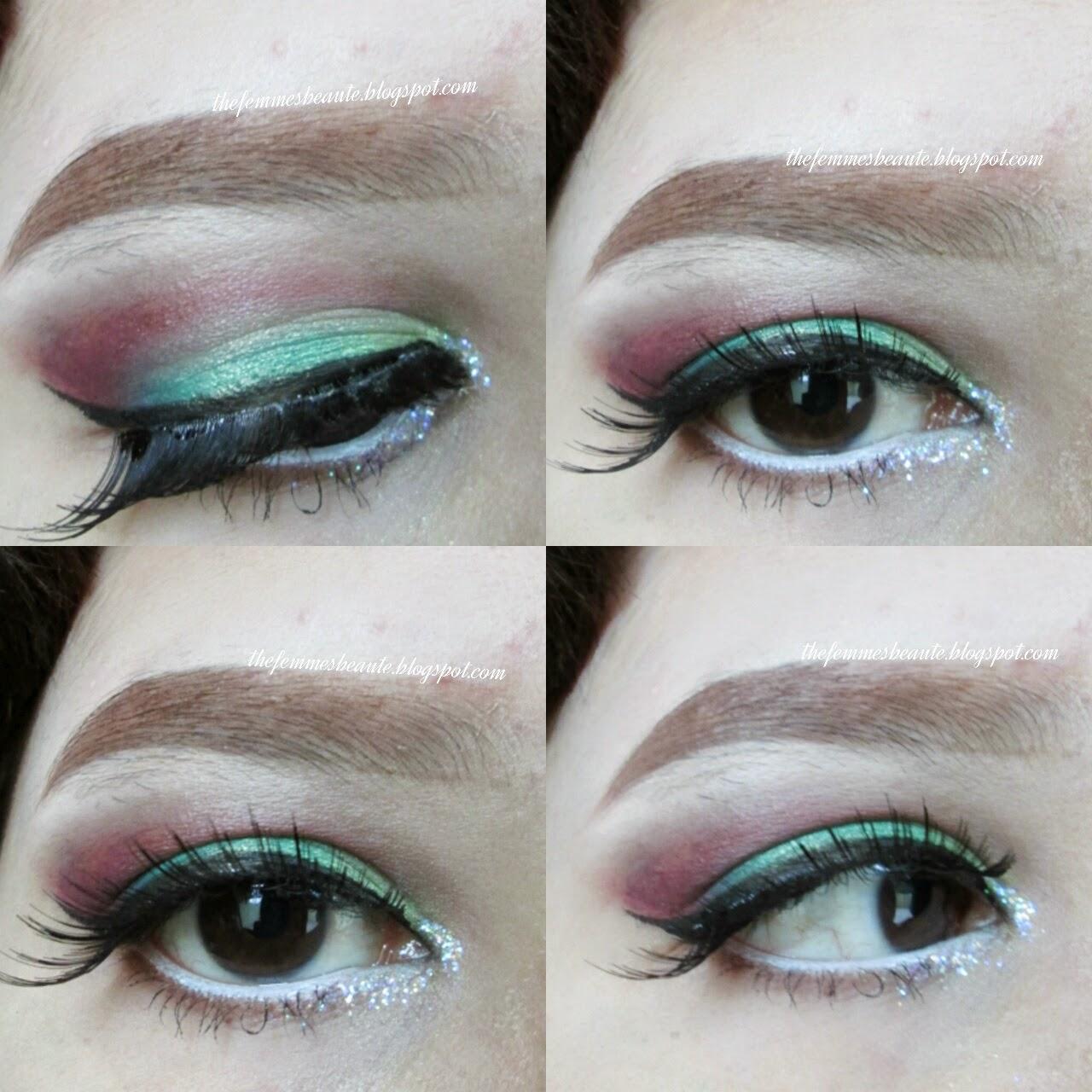 thefemmesbeaute tutorial christmas inspired makeup eotd