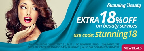 Ensogo, Ensogo code, beauty services, beauty deals