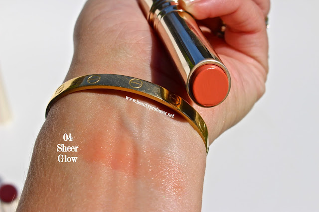 by terry sheer glow swatches