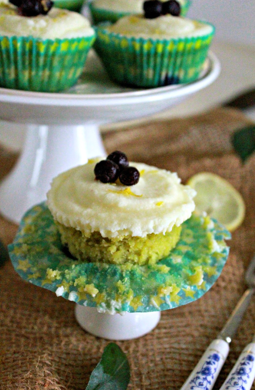 ... Lemon & Blueberry Cupcake with Lemon Curd Whipped Cream Frosting