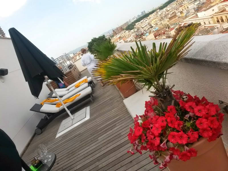 Outdoor terrace of H10 Montcada Hotel in Barcelona