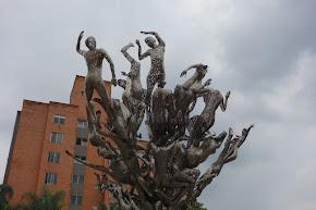 Beeld in Medellin , één van de velen