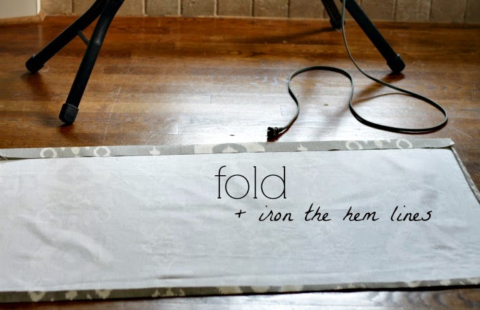 Step 2: fold and iron