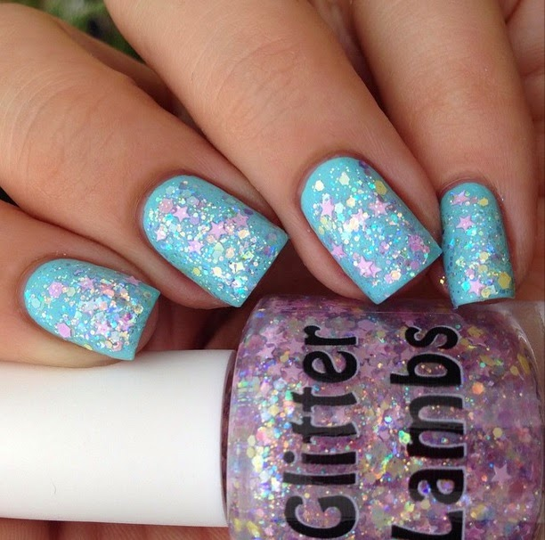 "Glitter Lambs ""Candy Lip Balm"" Fashion Makeover Collection Glitter Topper Nail Polish"