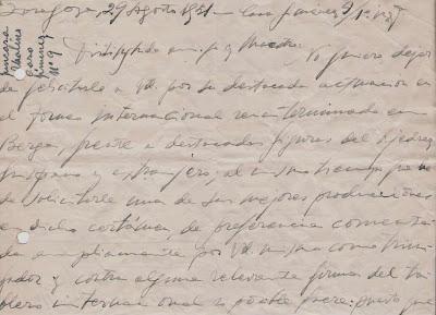 Carta manuscrita de José Juncosa Molins  a Ángel Ribera, 1951 (1)