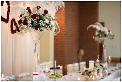 bukiet ślubny z róż, dekoracja sali Avangarda Lublin
