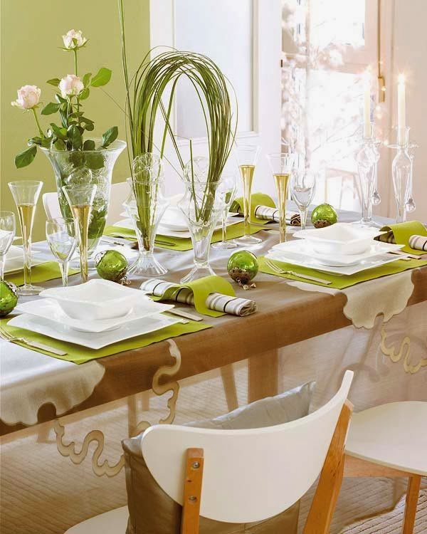 mesa de natal verde