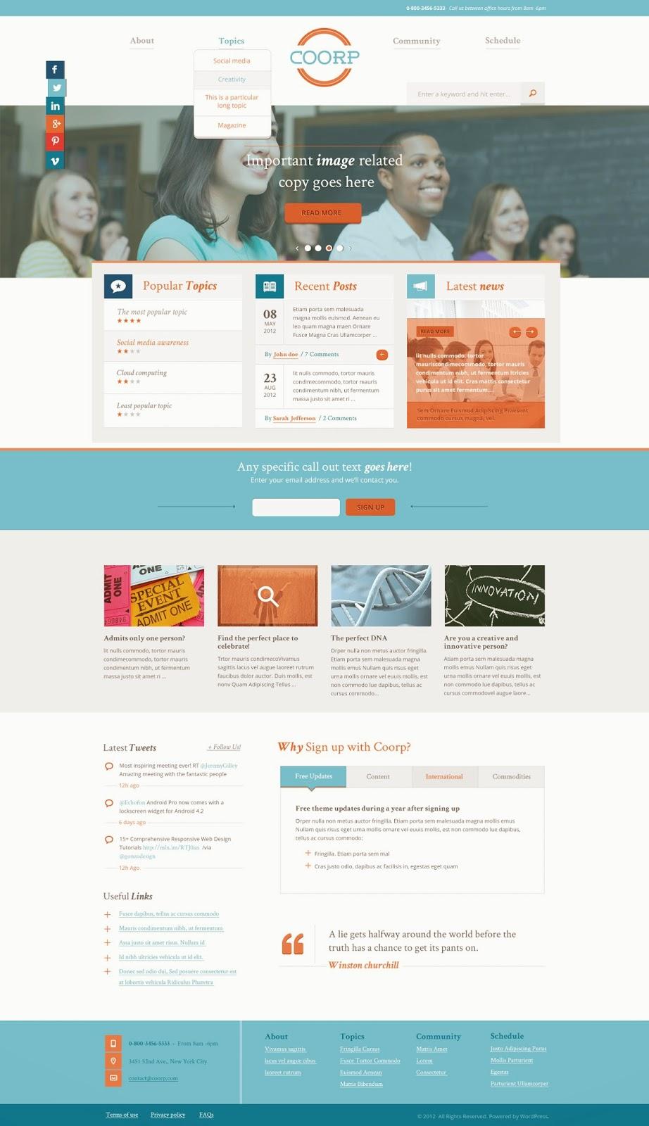 Free Coorp PSD Template Website