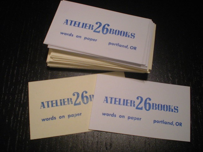 Dispatches from m allen cunningham letterpress business cards created on a kelsey tabletop press with reflex blue ink reheart Gallery