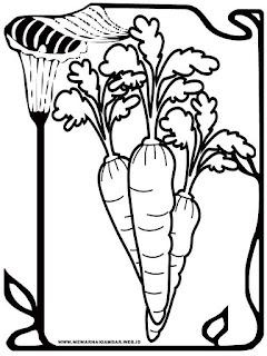 gambar wortel untuk mewarnai