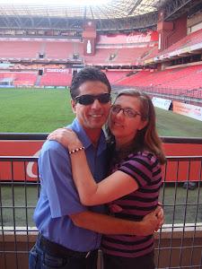 Eu e meu amor no estádio arena da baixada.