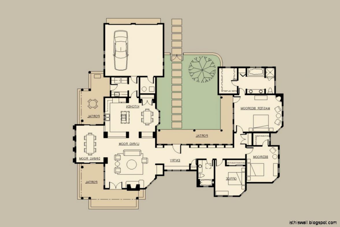 Hacienda home designs this wallpapers for Hacienda style house plans with courtyard