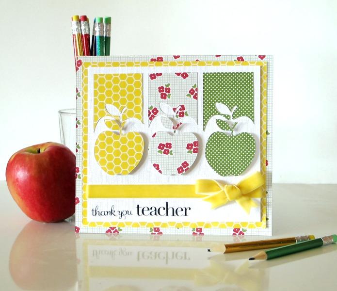 Открытка учителю своими руками яблоко 15