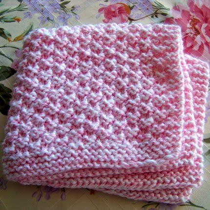 Box Stitch Baby Blanket - Free Pattern