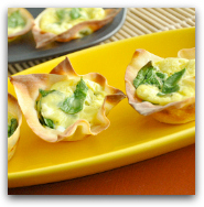 Mini Won-ton Quiche Cups