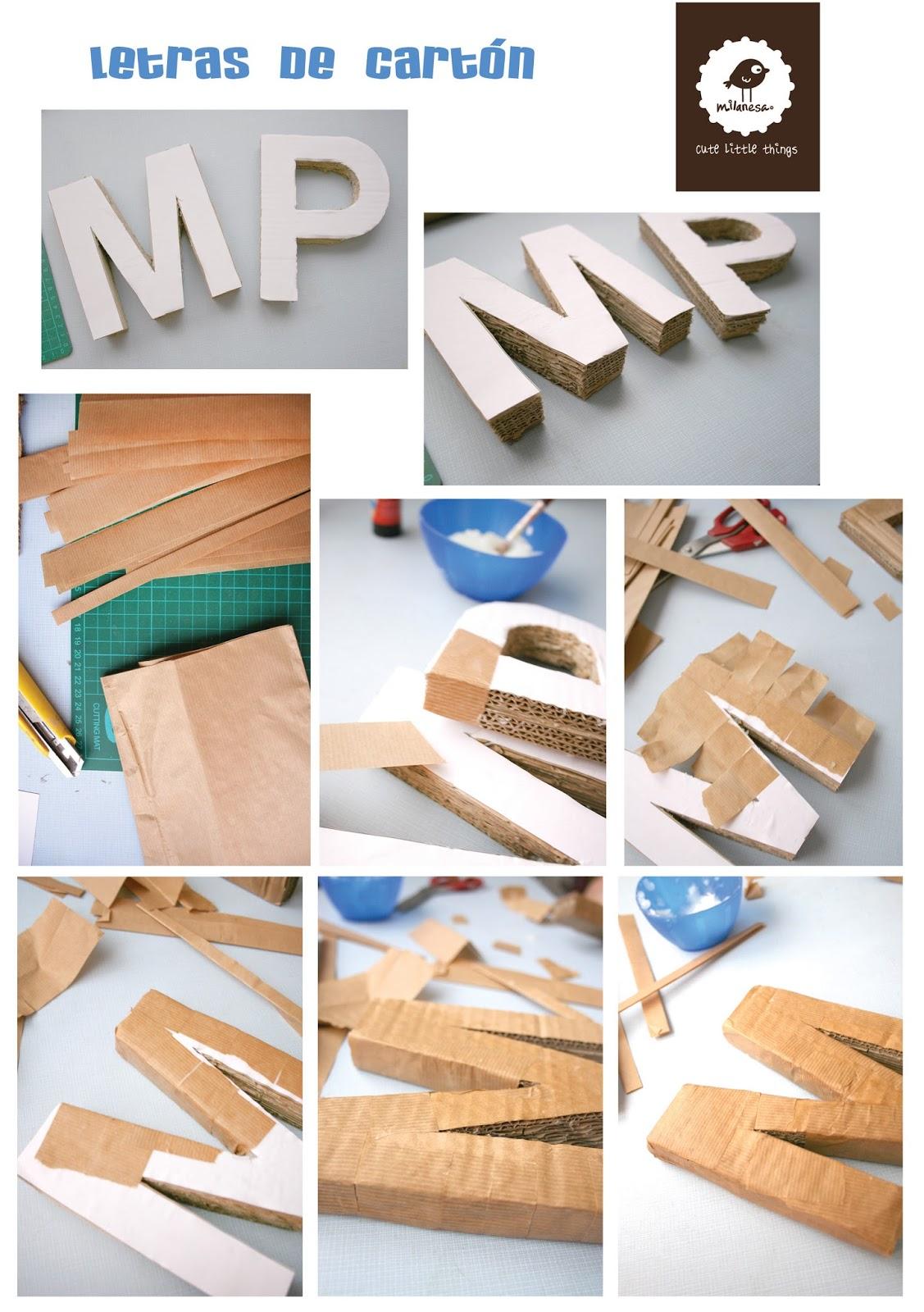 tutorial letras carton por milanesa- III parte