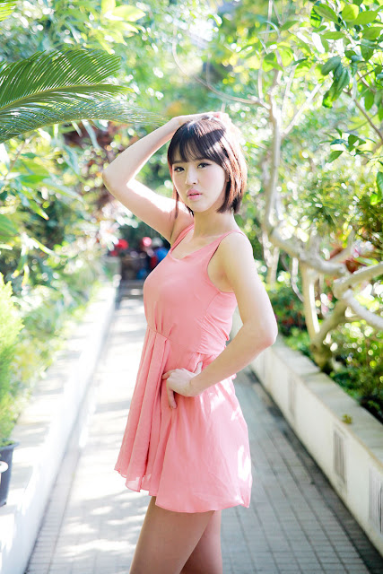 2 Choi Byeol Ha in Pink -Very cute asian girl - girlcute4u.blogspot.com