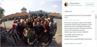 Keraton Surakarta Hadiningrat selfie zee zee shahab