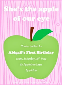 Apple of our eye Invite Pink
