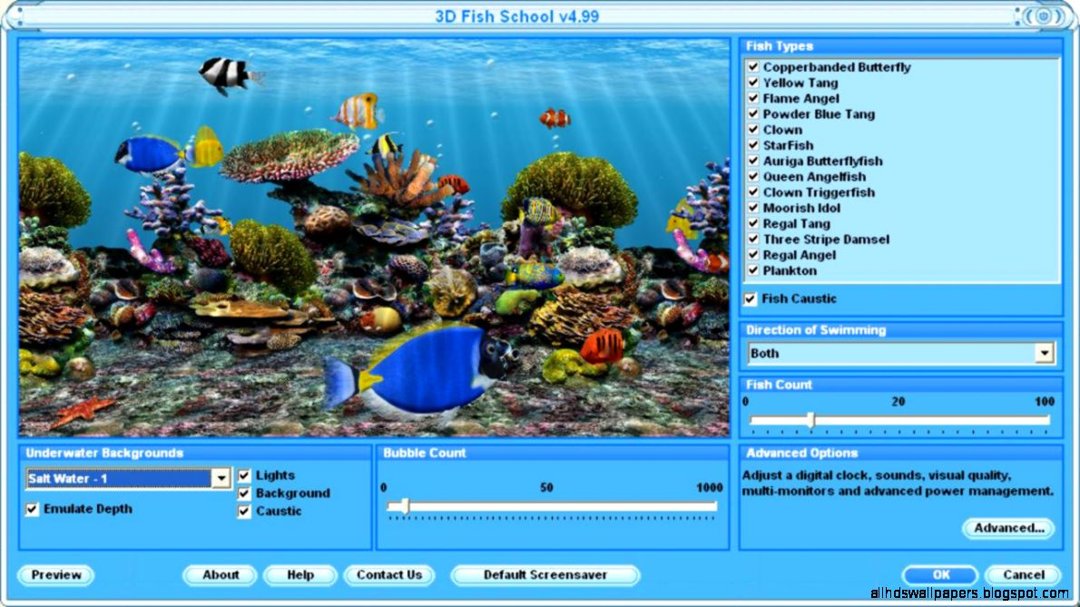 3D Fish Screensaver Free Virtual Fish Aquarium Download