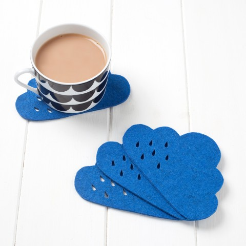 pygmy cloud handmade rain cloud coasters