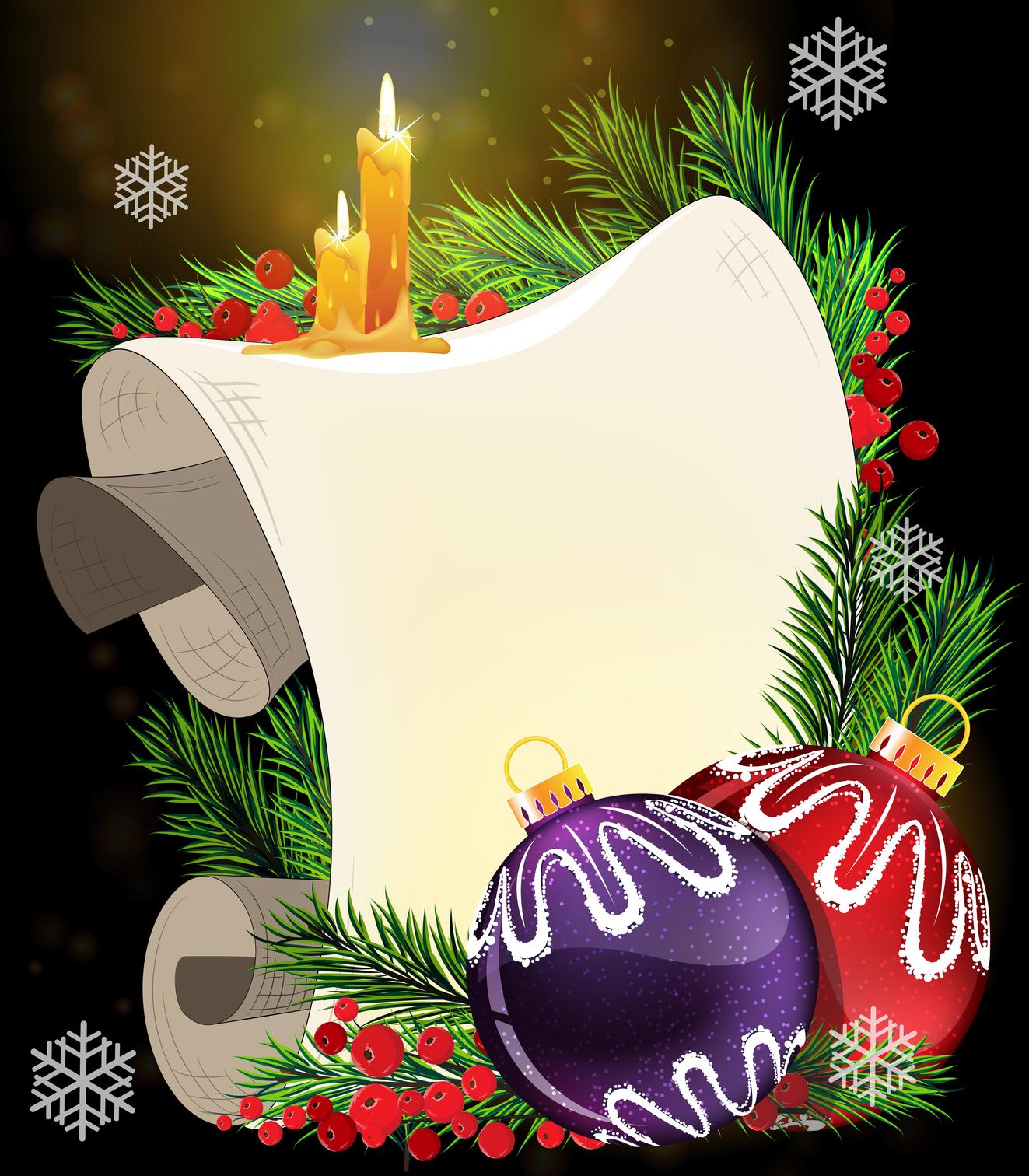 Banco De Imágenes Tarjetas De Navidad Para Escribir Mensajes