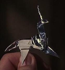Как сделать единорога из бумаги.  Схема и - Уроки Оригами.