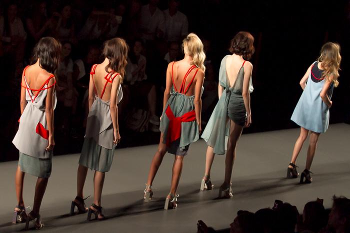 Modelos desfile Daniel Rabaneda