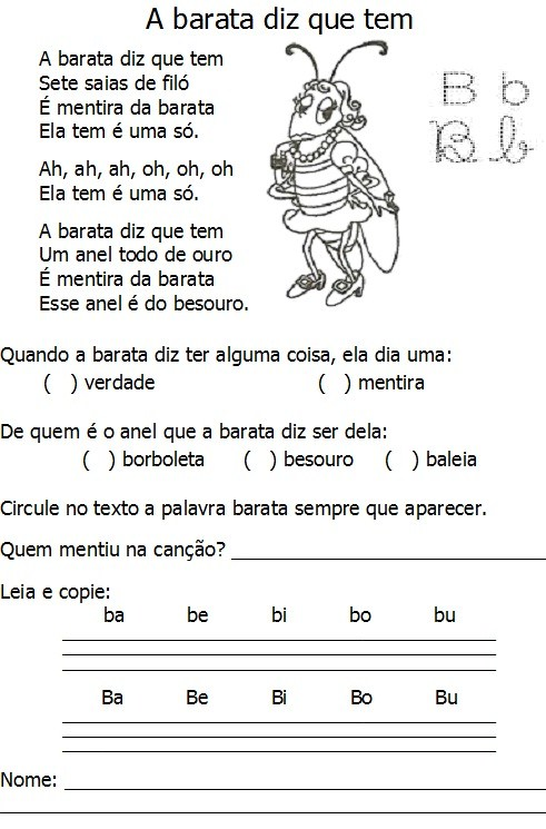 letra musica infantil: