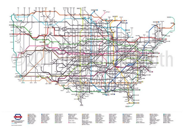 Urban Lab Global Cities ULGC Todays Map US Routes As A - Map of us routes