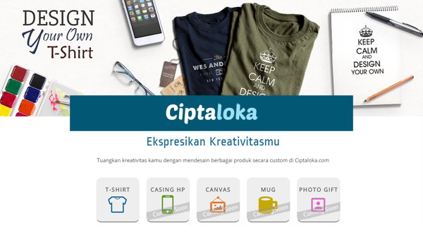Mau Punya Kaos Dengan Photo Sendiri? Coba Di Ciptaloka.com