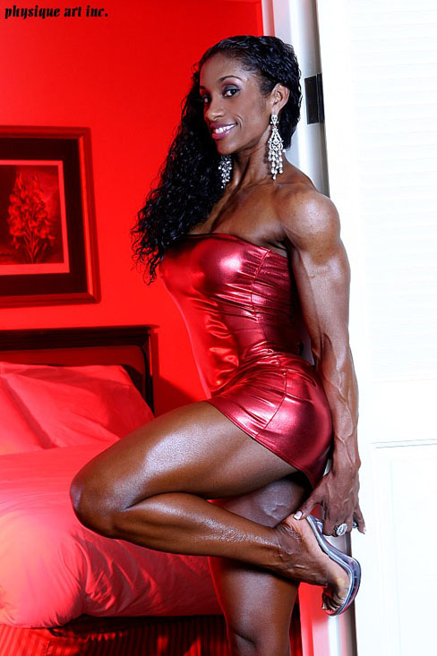 Glenese Markes Female Muscle Bodybuilding Fitness Ebony